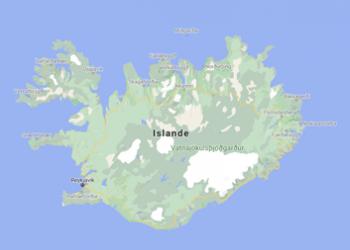 Carte de l'Islande voyage sur-mesure Islande